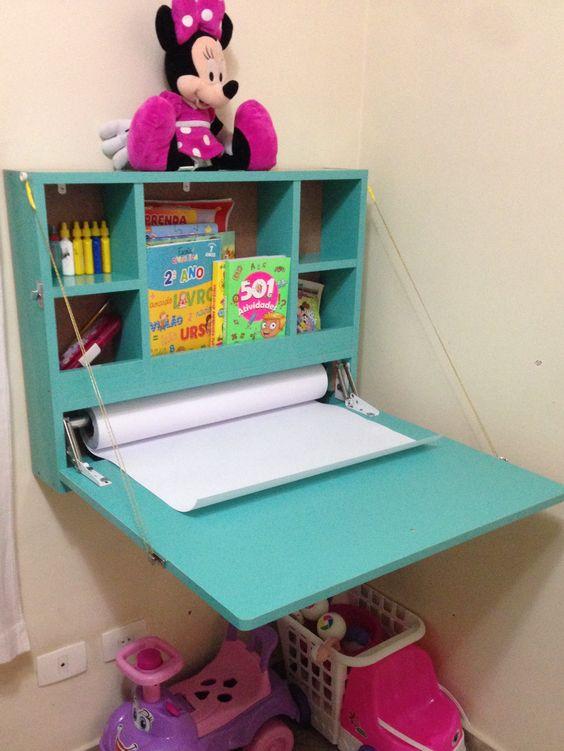 escrivaninha suspensa - escrivaninha suspensa verde turquesa