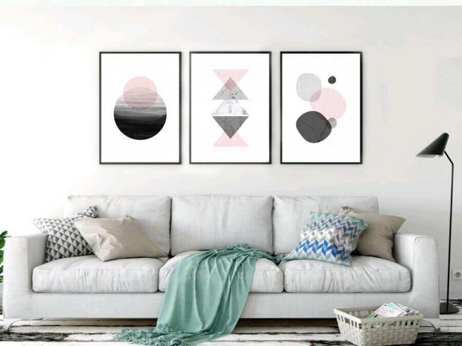 kit de quadros tumblr para decoração de sala de estar Foto Elo7