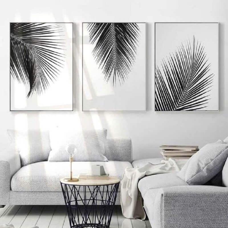 kit quadros tumblr para decoração de sala toda branca Foto HomeStyle