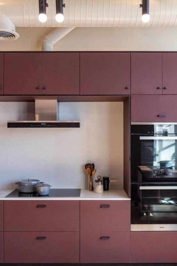 armários de cozinha coloridos