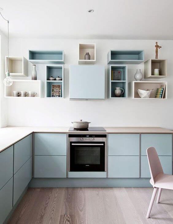 Modelos de armários em azul