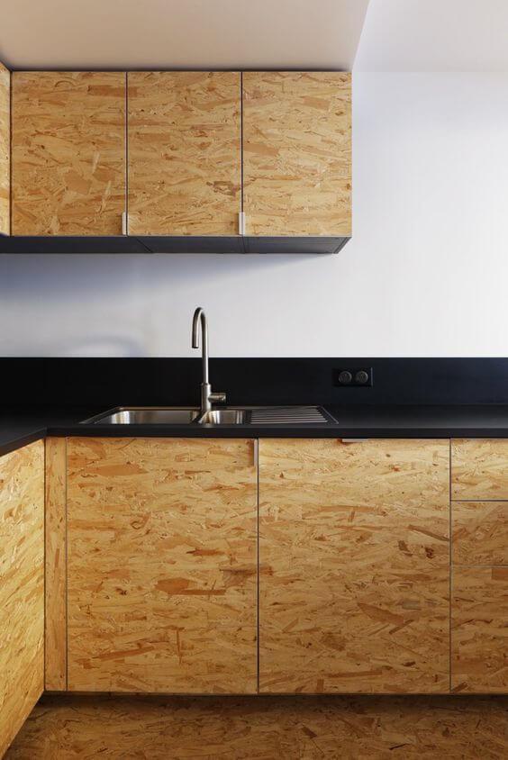 modelos de cozinha com bancada preta