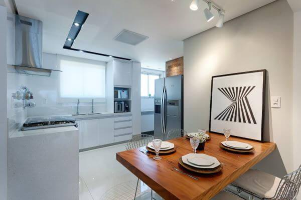 Modelos de cozinha compacta e clean