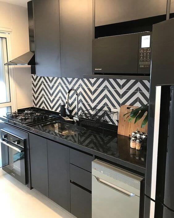 Modelos de cozinha com parede