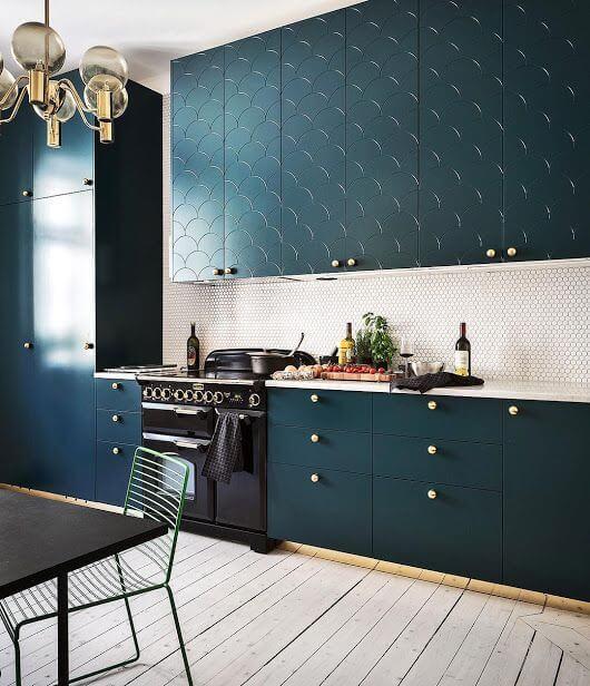 modelos de cozinha coloridas