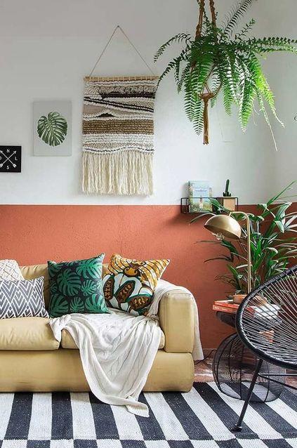 palmeira ráfia - sala de estar om palmeira ráfia