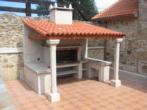 telha portuguesa - área de churrasqueira com telha portuguesa