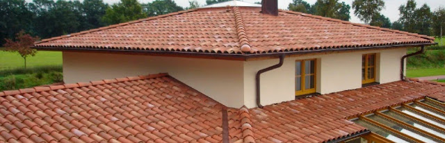 telha portuguesa - casa om telhado de telha portuguesa