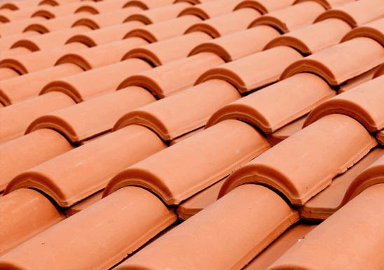 telha portuguesa - detalhe de telhado