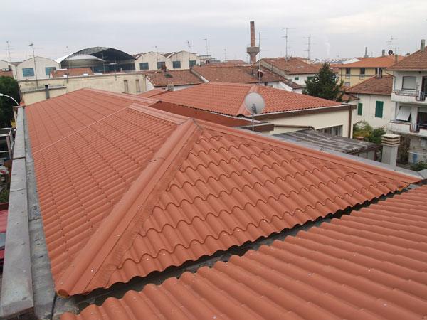 telha portuguesa - telhado grande