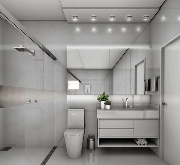 Spot de luz quadrado para área do banheiro