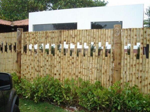 Cerca de bambu com design criativo para o ambiente de jardim