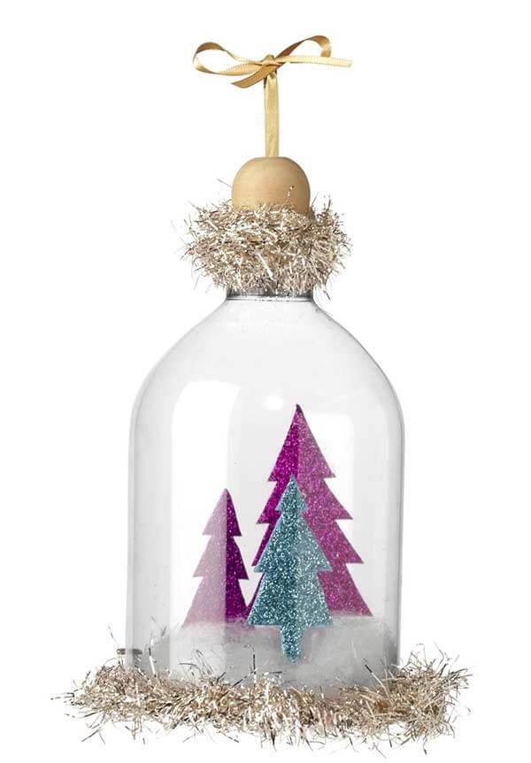 Como fazer enfeites de natal utilizando a cúpula da garrafa PET