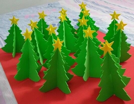 Como fazer enfeites de natal em EVA árvores de mesa