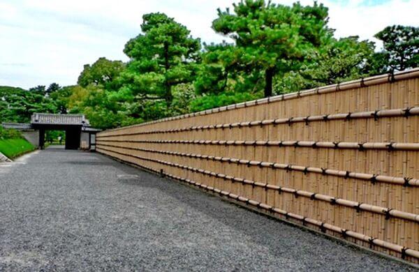 Entrada de chácara conta com a presença de uma grandiosa cerca de bambu