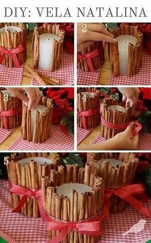 Passo a passo de como fazer enfeites de natal com velas
