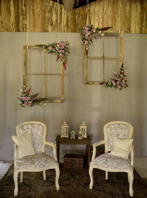 bodas de ouro - área de fotos decorada