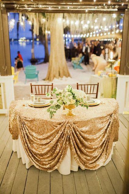 bodas de ouro - decoração de mesa de convidados