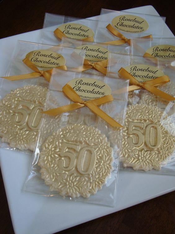 bodas de ouro - doces de lembrança