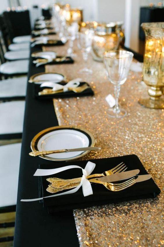 bodas de ouro - mesa de jantar para bodas