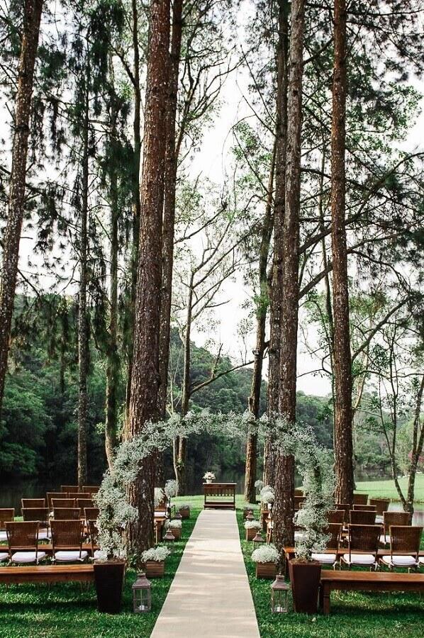 decoração de casamento no campo  Foto Casório à Vista