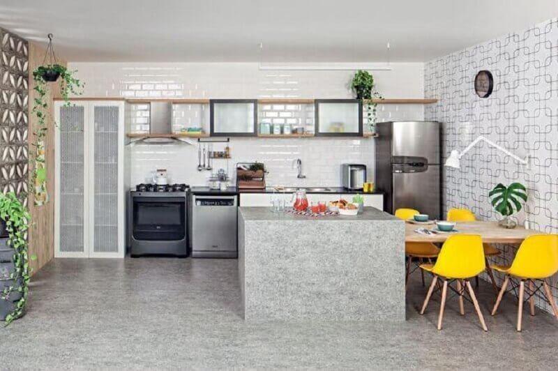 decoração simples para cozinha com bancada Foto Home Decoration
