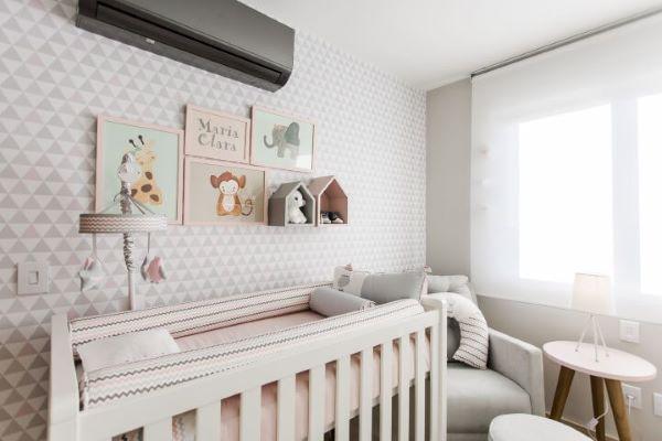 Enfeites para quarto de menina com decoração neutra