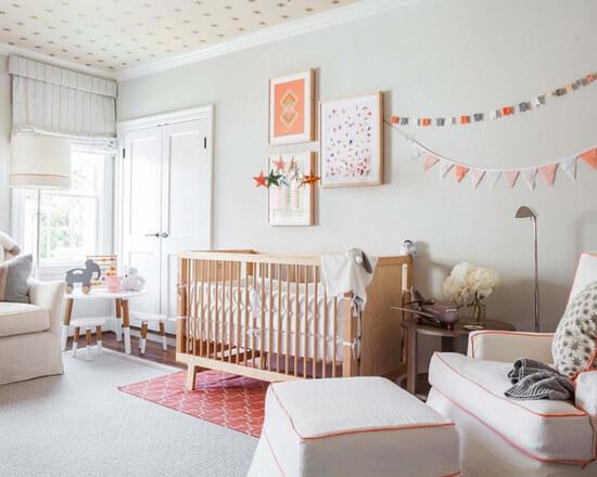 Enfeites para quarto de bebê neutro