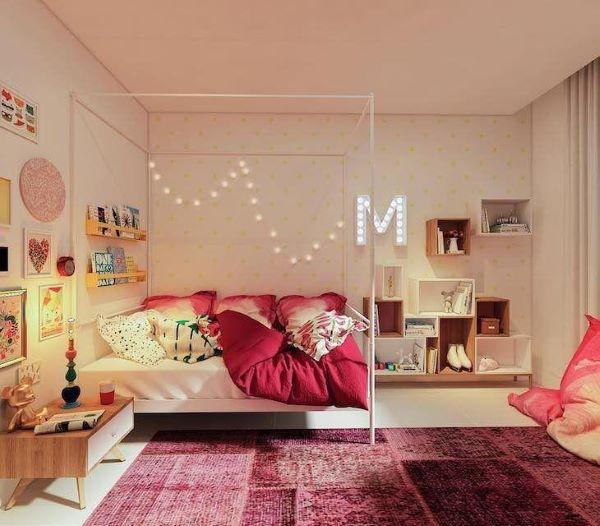 Enfeites para quarto feminino cor de rosa