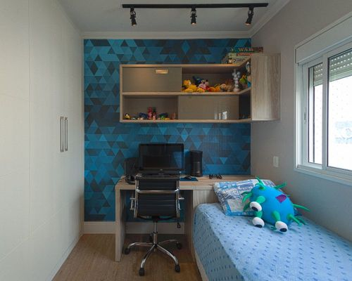 papel de parede geométrico - papel de parede geométrico azul
