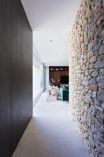parede de pedra - corredor com parede de pedra