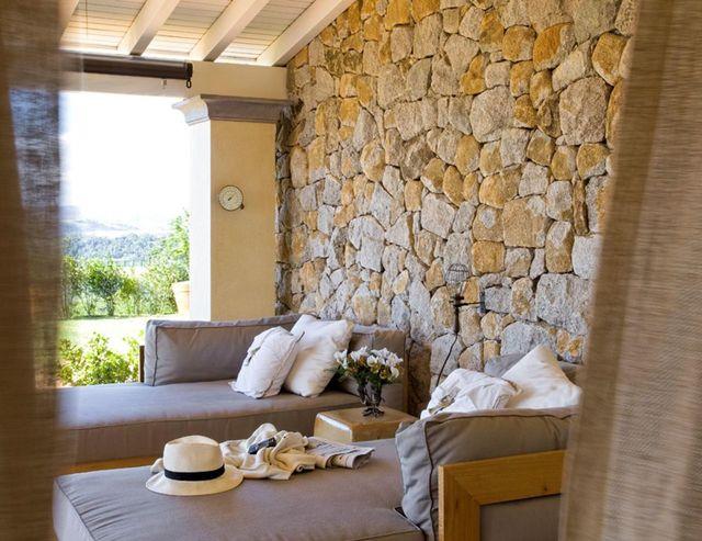 parede de pedra - varanda com parede de pedra