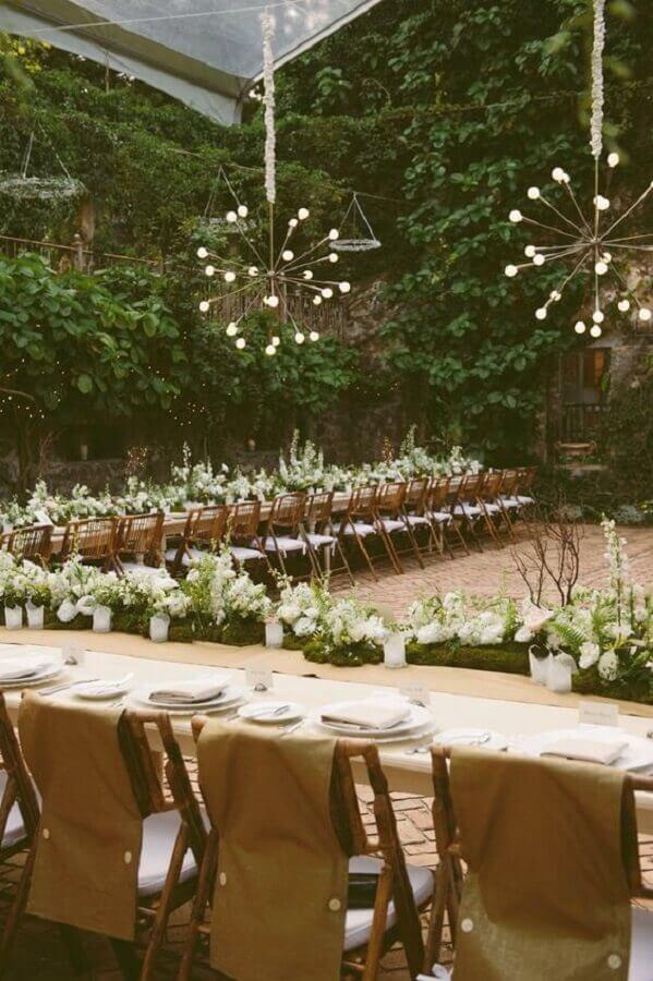 pendentes modernos para festa de casamento no campo  Foto Etsy