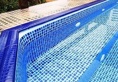 Canto de piscina de vinil