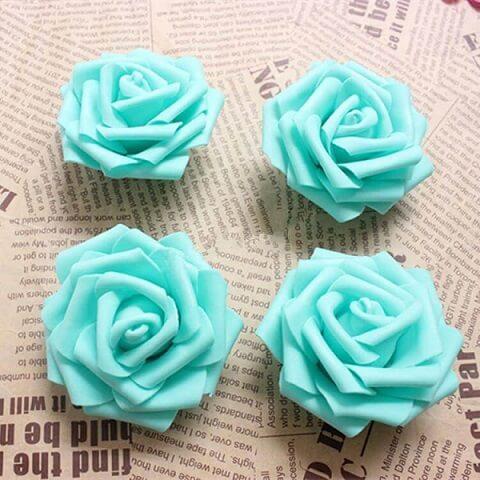 Mini flores de EVA azuis