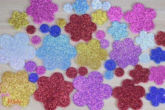 Base de flores de EVA com glitter