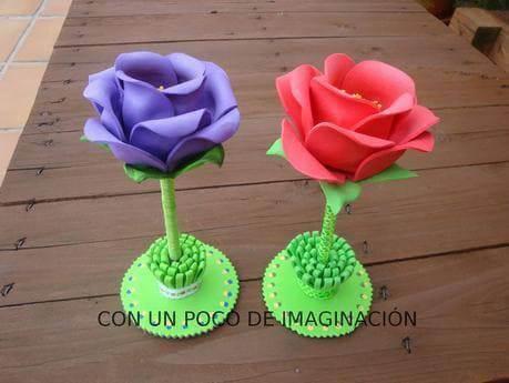 Flores de EVA com base verde