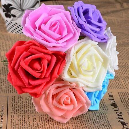 Flores de EVA em buquê colorido