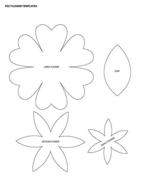 Flores de EVA em moldes