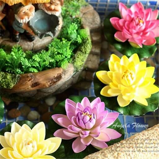 Flores de Lótus coloridas de EVA