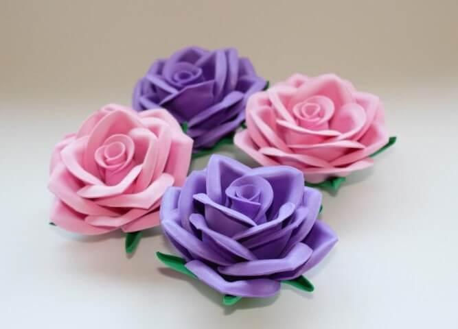 Modelos de flores de EVA com formato de rosas