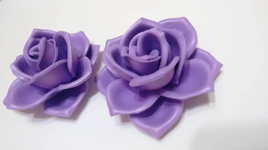 Flores de EVA roxas