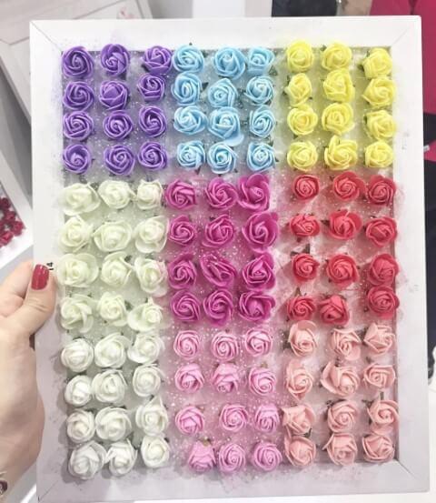 Mini flores de EVA coloridas