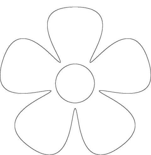 Molde simples de flores de EVA Foto de Pinterest