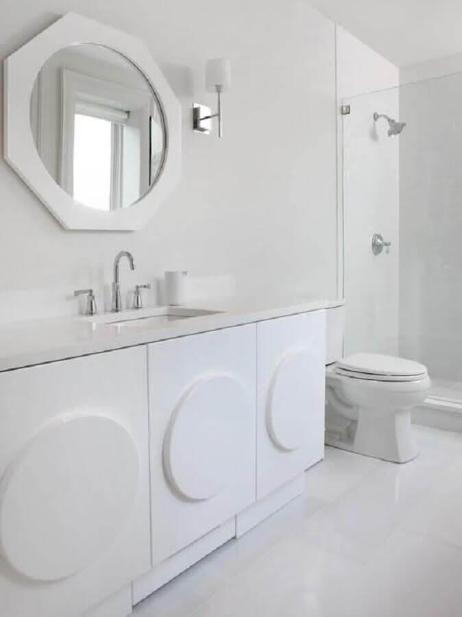 banheiro branco minimalista Foto Pinterest