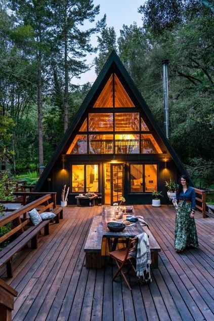 casas de madeira - casa de campo feita de madeira