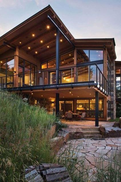 casas de madeira - casa de madeira com mezanino