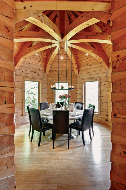 casas de madeira - casa de madeira com pendente