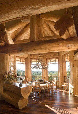 casas de madeira - casa de madeira crua grande