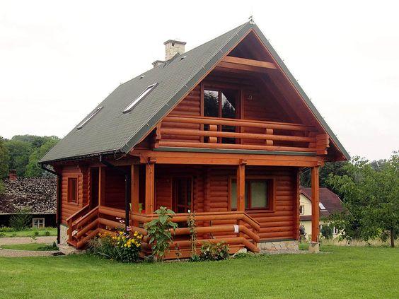 casas de madeira - casa de madeira escura